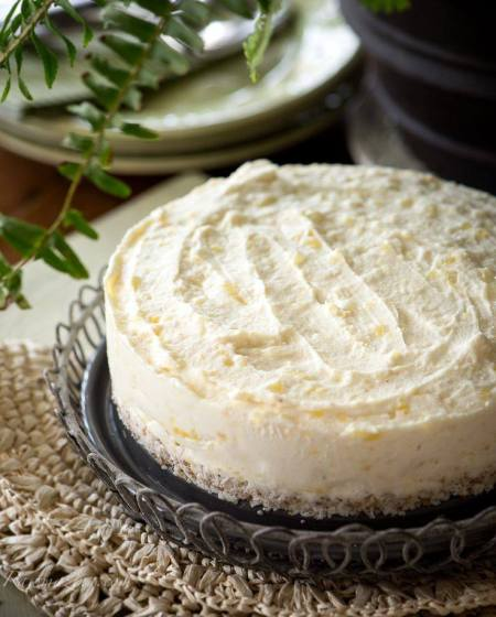 raw coconut cheesecake